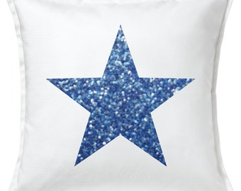 Glitter Star Pillow Cover
