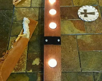 Tea Light Candle Holder Made From Repurposed Napa Wine Barrels