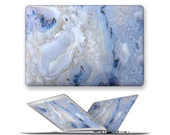 macbook pro decal rubberized front hard cover for apple mac macbook air pro touch bar 11 12 13 15 marble gemstone natural stone pattern
