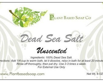Bath Salt, Mineral Bath, 100% Dead Sea Salt (2lb or 5lb)