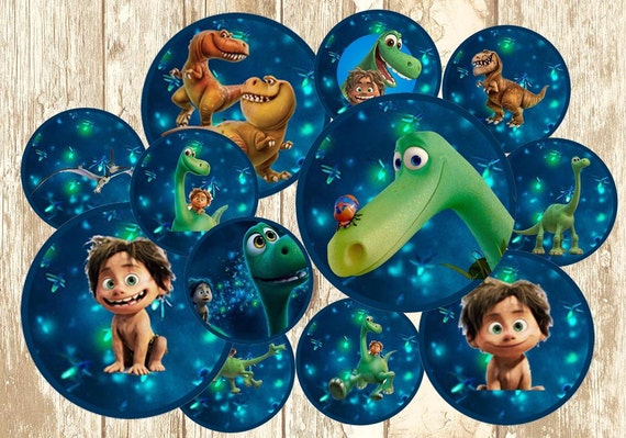 Dinosaur Cake Decorations Nz : The Good Dinosaur Cupcake Topper The Good by RainbowPrintables