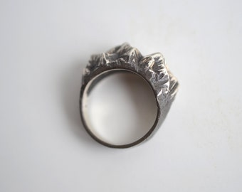 Mountains  silver ring