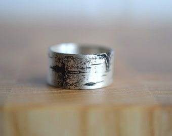 Silver birch ring