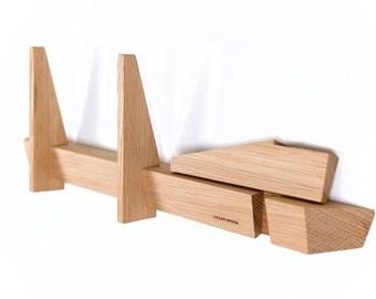 Coat rack untreated oak wood Danish design