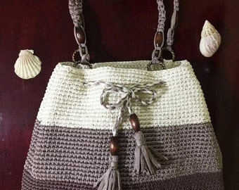 Crocheted Mutli-color Bag