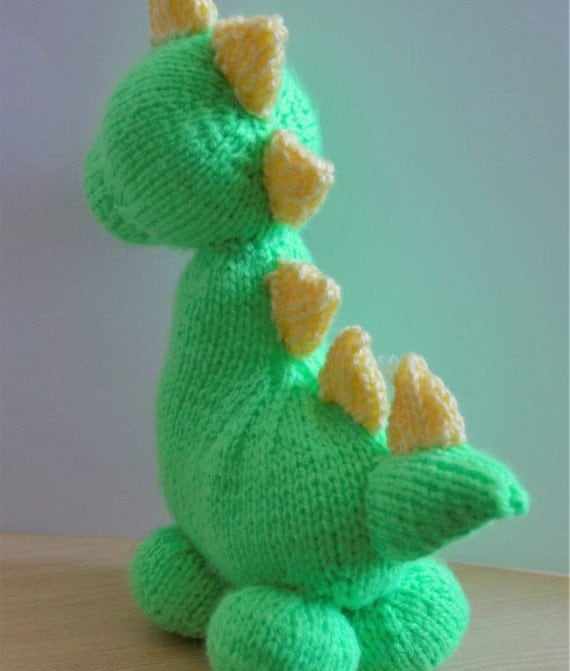 Knitting Pattern Dinosaur Toy : Dinosaur Knitting Pattern, Toy Dinosaur Knitting Pattern, Dinky the Dino, Toy...