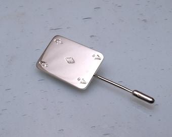 Playing card lapel pin