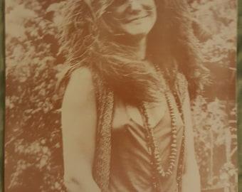 Janis Joplin 11x14 sepia