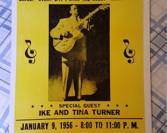 B.B. King concert  poster