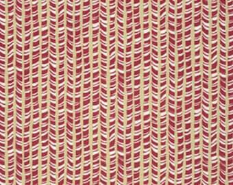 """David Walker FreeSpirit Designer Cotton Fabric """"Winter Wonderland"""" Peppermint Stick in Nutmeg"""