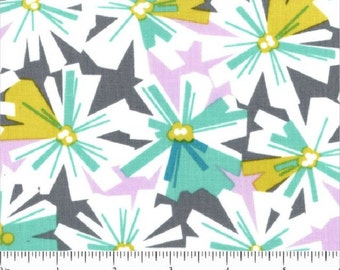 "FreeSpirit Cotton Fabric ""LaDeeDa""   Oopsy Daisy in Aqua  by Erin McMorris"