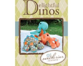 "Sweetbriar Sisters        Rex, Bronto, Spike     ""Delightful Dino's""   Sewing Pattern"