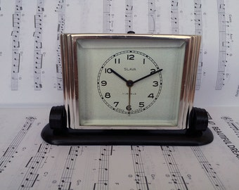 ON SALE! Vintage alarm clock Restored clock Working mechanical alarm clock Soviet Slava Desk alarm clock Retro clock Home Decor Office decor