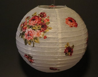 Floral Fabric Paper Lantern