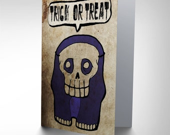 Trick Or Treat Blank Greetings Card By John Trowell JT021CP