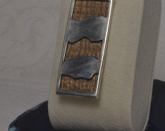 Wood insert pendant