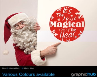 Christmas window / wall art sticker I'ts the most magical time of the year
