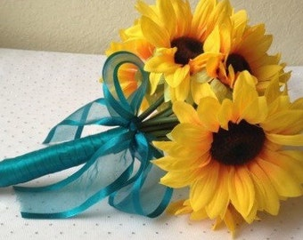 "Sunflower ""toss"" bouquet"