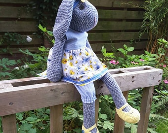 Crochet, crocheted bunny rabbit, 51 cm.