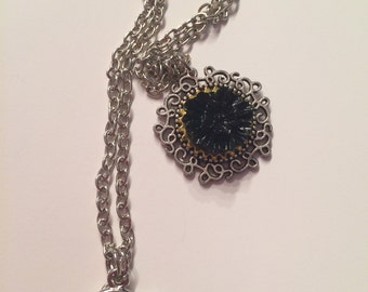short necklace came pink black - gotic style