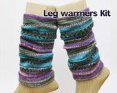 "Leg Warmers Kit, KA, Asymmetric Circular Needle 9.5"" (23cm), Opal Sock Yarn, bamboo, circular needle, kit"