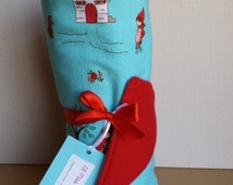 Red Baby Blanket | Stroller Blanket | Car Seat Cover | Baby Girl Blanket | Red Fleece Blanket | Aqua Blanket | Baby Shower Gift