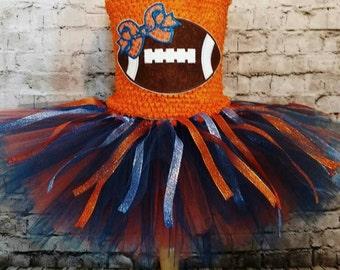 Chicago Bears tutu dress, bears tutu, football tutu dress, Chicago bears dress,birthday tutu dress, baby tutu dress, team spirit tutu