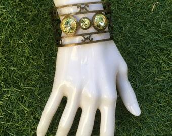 Ethnic Swarovski Cuff Bracelet
