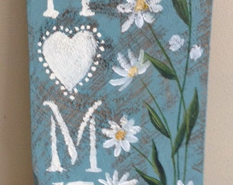 HOME Sign with Daisies