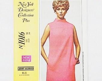 60s Designer Dress Pattern | McCalls 1016 Mod Shift Dress Pattern | 60s Sewing Pattern