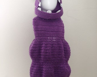 "Crochet ""Boo"" Monster Inc Costume, Toddler Boo Outfit, Boo Costume Set, Fun Outfit, Photo Prop, Halloween Costume"