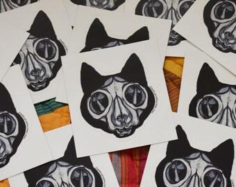 Cat Skull - Vinyl Sticker