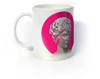 Classical Neon Pink Antinoo Mug