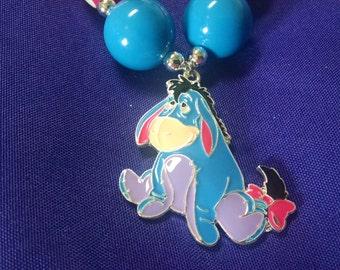 Eyore Winnie the Pooh Toddler Bubblegum Necklace.  Eyore Girls Gumball Necklace