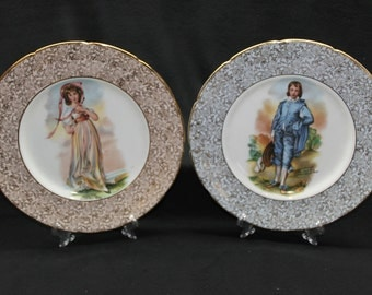 Vintage Regency Bone China Set of 2 Mulder & Zoon Plates Made in England Regency Bone China