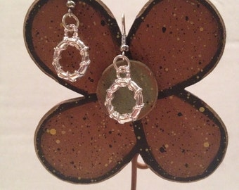 Wrapped circle earrings