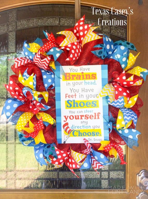 Dr Seuss Wreath Teacher Wreath Classroom By