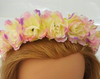 Flower Crown Headband!! Wearable for everyday or special occasions. Perfect way to add style!