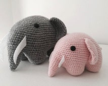 Elephant amigurumi crochet - Cute baby elephant perfect forr nursery - Soft toy amigurumi - Cute adorable gift birthday or babyshowers