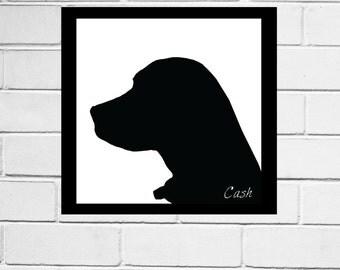Custom Silhouettes of your pets! Art print, custom design, pet silhouettes, pet portraits