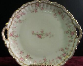 Antique Limoges Cake Plate