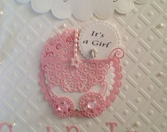 Handmade  Baby Card choice of 3 designs