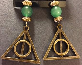 Deathly hallows earrings