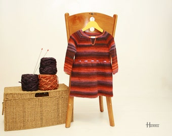 knitted dress (autumn shades)