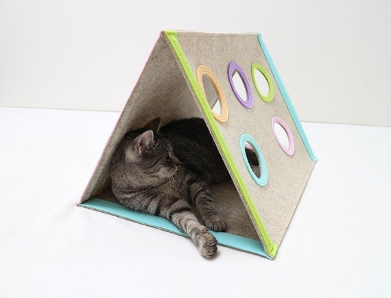 Cat House Modern Cat Furniture Triangle Cat House By