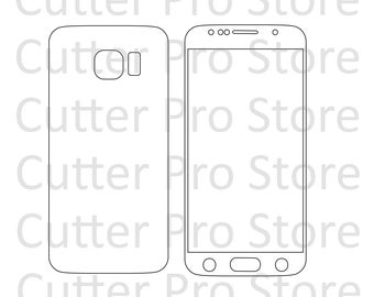 Samsung Galaxy S6 Front and Back Template (SVG File)