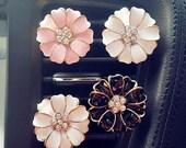 2pcs Crystal Flower Handmade Car vent clip, car air freshener, car interior, car accessory, car Decorations