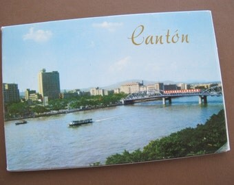 SALE Canton China Vintage postcard set (10 postcards) / Vintage Color postcards Canton