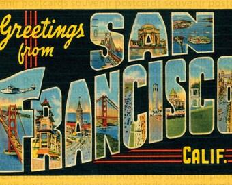 San Francisco, San Francisco Postcard, San Francisco Vintage Postcard, San Francisco Download, Souvenir Postcard Folders, Travel