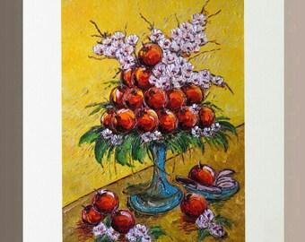 Original Oil Painting - Apples in Unity